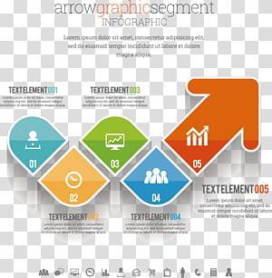 arrowgraphicsegment illustration, Infographic Information Illustration, creative arrow PNG clipart
