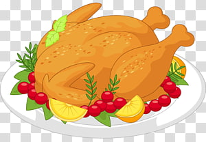 Turkey meat Thanksgiving , Cooked chicken PNG clipart