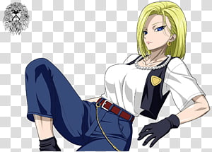 Android 18 Gohan Anime Goku Android 17, Android 18 PNG clipart