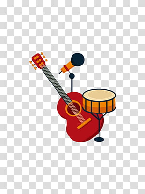 microphone and guitar PNG