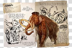 ARK: Survival Evolved Woolly mammoth Phiomia Mammal Dinosaur, dinosaur PNG