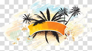 hawaii beach cartoon drawing icon PNG