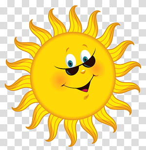 Cartoon , Cartoon Sun , smiling sun illustration PNG clipart