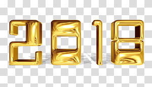 Gold Lettering Desktop Font, Happy New Year PNG clipart