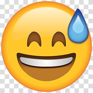 Emoji Perspiration Text messaging Smiley Face, laughing PNG clipart