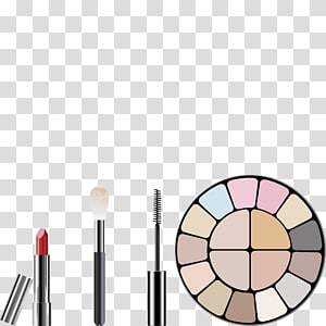 Cosmetics , Hand-painted make-up tools PNG clipart