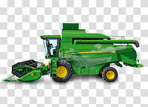 John Deere Combine Harvester Agriculture Tractor, tractor PNG clipart