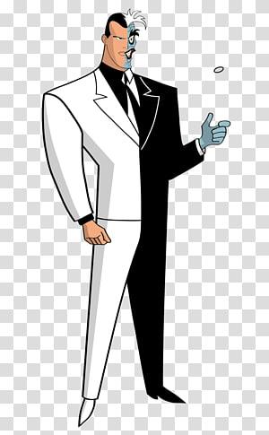 Two-Face Batman Joker Animated series Cartoon, the villain PNG