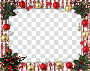 christmas flower decoration border background PNG