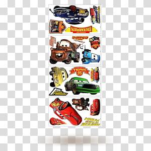 Lightning McQueen Mater Cars Wall decal, car PNG