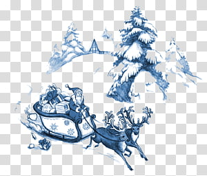 Santa Claus Christmas tree Christmas card, Santa Claus PNG