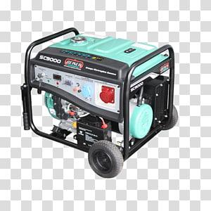 Electric generator Engine-generator Gasoline Car Emergency power system, car PNG clipart