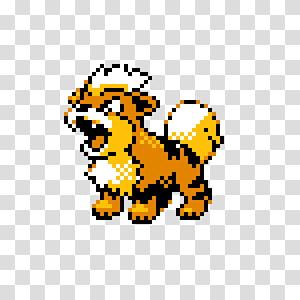 Pokémon Gold and Silver Pokémon Crystal Pokémon Stadium Growlithe Arcanine, crystal sprite PNG