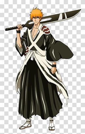 Ichigo Kurosaki Genryusai Shigekuni Yamamoto Zangetsu Rukia Kuchiki Bleach, ichigo kurosaki PNG