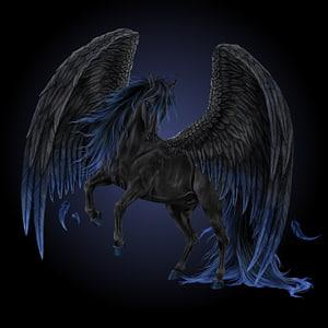 Medusa Pegasus Legendary creature Unicorn Greek mythology, pegasus PNG