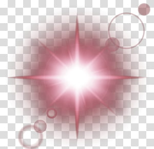 red fresh shine light effect element PNG