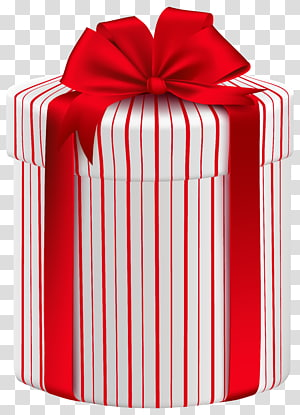 red and white gift box, Christmas gift Box Paper , Large Gift Box with Red Bow PNG clipart