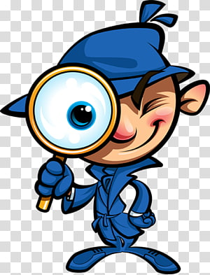 Detective graphics Cartoon Private investigator Illustration, Magnifying Glass cartoon PNG clipart