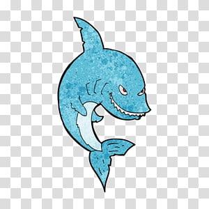 Shark Cartoon Illustration, Cartoon shark material PNG clipart