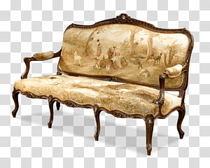Antique furniture Loveseat Chair Couch, antique furniture PNG