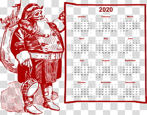 2020 christmas calendar fat santa., others PNG clipart