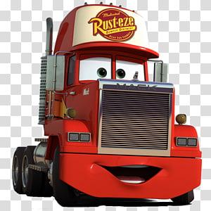 red Cars Rust-Eze trailer, Lightning McQueen Mack Trucks Mater Cars Pixar, cars 3 PNG