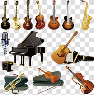Musical Instruments Guitar Orchestra, Musical Instruments elements PNG