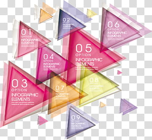 Geometry Triangle Euclidean , Colorful abstract geometric triangle gradient PNG clipart