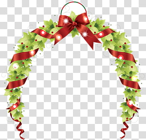 creative christmas wreath PNG