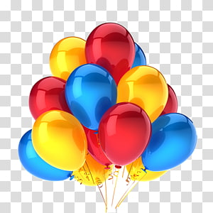 assorted-color aired balloons illustration, Gas balloon Birthday, Colored balloons PNG clipart