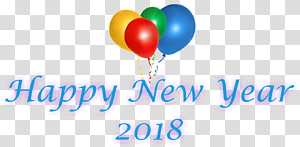 Paper Stationery New Year\'s Day Party, happy new year 2018 PNG clipart