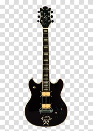 black guitar PNG