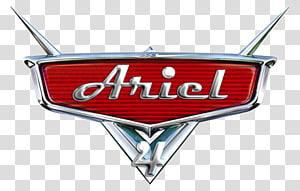 Ariel 4 logo, Cars Logo Lightning McQueen Pixar, car PNG