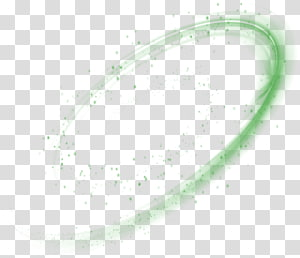Circle Angle Green Pattern, Green Suspension Halo Effect Element PNG