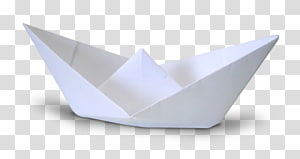 white paper boat PNG