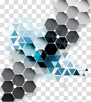 Triangle Geometry, Colorful diamond background , gray and blue 3D PNG