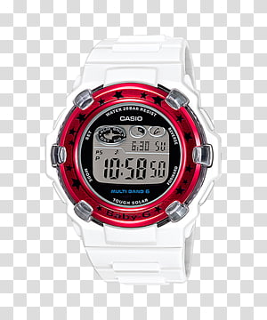 Solar-powered watch Casio G-Shock Clock, Watch Parts PNG clipart