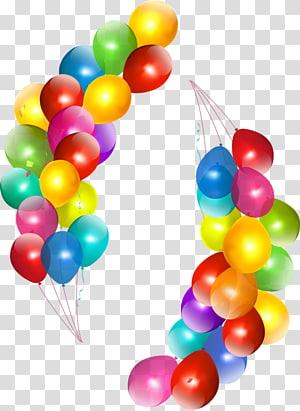 Birthday cake Balloon , Birthday PNG clipart