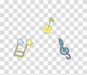 Cartoon Musical note, Cartoon Star notes PNG clipart