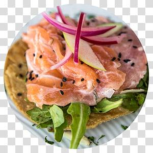 Sashimi Tostada Smoked salmon Ceviche Carpaccio, vegetable PNG