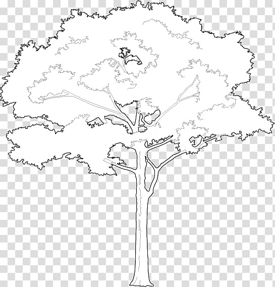 /m/02csf Floral design Line art Drawing, Tree 2D PNG