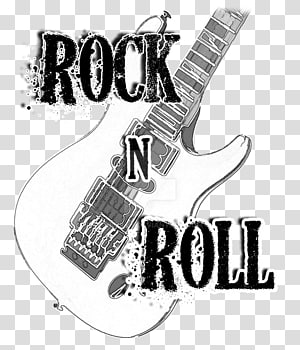 rock n roll , T-shirt Rock and roll Rock music Guitar, rock n roll PNG