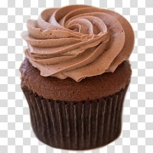 Cupcake Ganache Chocolate truffle Chocolate cake Muffin, frosting PNG
