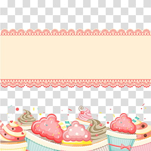 cakes with cupcakes illustration, Birthday cake Cupcake Greeting card, Decorative birthday card illustration PNG clipart