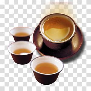 Green tea Japanese tea ceremony Chinese tea Chawan, Tea set PNG