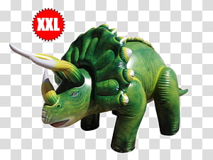 Accoutrements & Friends Inflatable Triceratops 3 ft 7in long The Jurassic dinosaurs, dinosaur PNG clipart