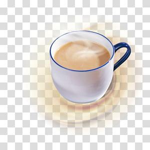white coffee mug, Hong Kong-style milk tea Bubble tea Green tea, Instant hot milk tea PNG