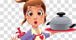 Chef Cooking Woman, Pan Dulce PNG