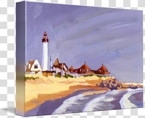 Cape May Point Lighthouse Painting Gallery wrap Canvas, painting PNG clipart