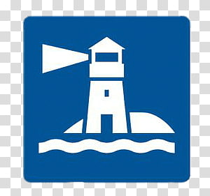 lighthouse icon, Square Lighthouse Sticker PNG